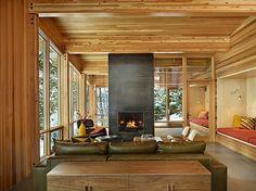 DeForest Architects designed this house on Lake Wenatchee in Washington State