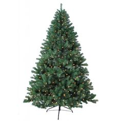 $ 147.00 - 6-foot Prelit Artificial Woodriff Spruce Tree with 450 Warm Lights and Metal Stand
