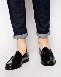 $224, G.H. Bass Gh Bass Larkin Tassel Loafers. Sold by Asos. Click for more info: https://lookastic.com/men/shop_items/178071/redirect