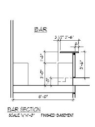 Resultado de imagen para commercial bar counter construction autoCAD ...