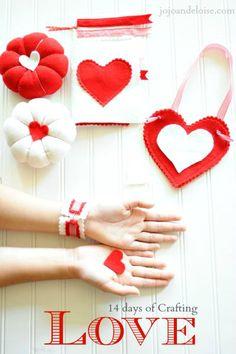14 Days of Crafting Love #crafts #valentines