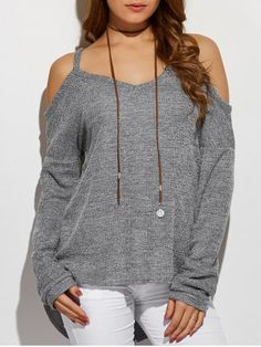 GET $50 NOW | Join RoseGal: Get YOUR $50 NOW!http://www.rosegal.com/sweaters/cold-shoulder-asymmetric-sweater-829188.html?seid=7191974rg829188