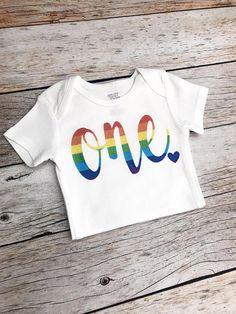 Rainbow Birthday Shirt (any age), Baby Girl Rainbow Theme Birthday Party, Rainbow Birthday Bodysuit