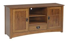 Amish Liberty Mission Open Center TV Stand Amish Liberty Mission Open Center TV Stand. Simple and solid mission style. Comes in three custom widths, choice of wood, finish and hardware. #DutchCrafters