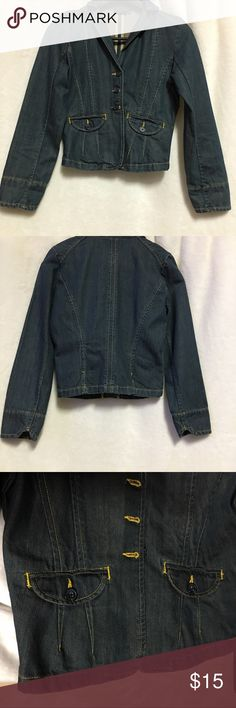 The Limited Women's Denim Jacket Size Small The limited denim jacket  Size small  It has two pockets  In great condition like new  Length-20.5  Underarm to Underarm-18 The Limited Jackets & Coats Jean Jackets