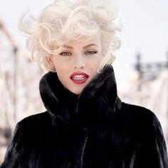 Ginta Lapina - Blackglama - Blackgama Hollywood Campaign Fall 2012 for Russia/China/Korea