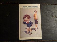 Vintage Postcard Kid Comic Women Cause by BrownstoneBasement, $5.00
