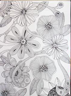 Flowers. Micron pen