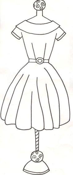 Dibujos de vestidos 15 años para colorear | Manualidades con Moldes ...