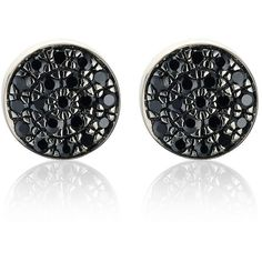 Monica Vinader Pavé Stud Earrings ($275) ❤ liked on Polyvore featuring jewelry, earrings, accessories, black, jewels, rose earrings, monica vinader, pave stud earrings, monica vinader earrings and pave jewelry