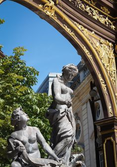 Focus on Amphitrite foutain statues made for Stanislas Leszcynski  Duke of Lorraine. It takes part of the Neoclassical Stanislas Place,Nancy, France