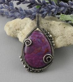 JEWELRY TUTORIAL Wire Wrapped Curly Q Bezel Reversible Pendant