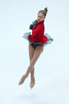 "Yulia Lipnitskaya of Russia skating amazingly and beautifully to ""Schindler's List"" during the long program of the team figure skating competition"