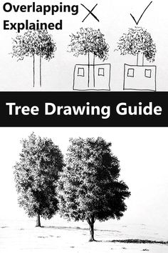 Tree Drawings, Drawing Trees, Realistic Drawings, Painting & Drawing, Drawing Sketches, Sketching, Dream Illustration, Sketches Tutorial, Watercolour Art