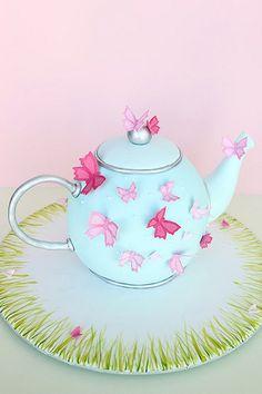 Garden Teapot Cake