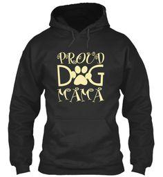 Proud Dog Mama Jet Black Sweatshirt Front