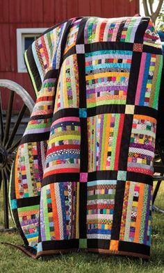 Sticks Stones - great quilt for scraps.