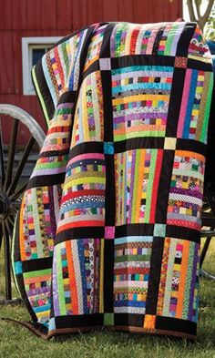 Sticks Stones - great quilt for scraps.