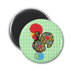 SWEET! This Product Qualifies For: 17.76% Off ALL Orders To Celebrate Independence Day!   Enter 4THOFJULYDAY   Ends Thursday   Details  Famous Rooster of Barcelos Nr 06 Fridge Magnet
