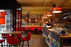 Design del bar The Laundromat Cafe in Islanda