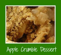 Apple Crumble Dessert - Back to Basics - http://www.everyrecipe.co.nz/r/apple-crumble-dessert---back-to-basics-60216.html