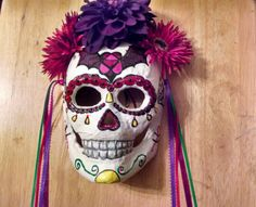 Dia de los Muertos mask, by me