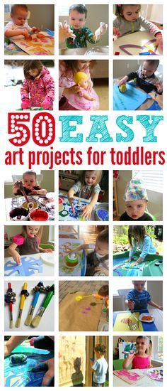 Rad list of easy art projects for toddlers from No Time For Flash Cards.