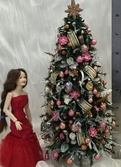 1:12 DollHouse Christmas Garland Decoration Bow Bell DIY Mini Home Decor Gift LY
