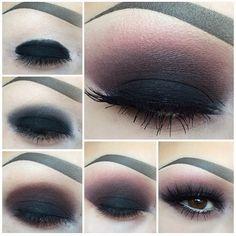 Makeup Looks African American unless How To Do Smokey Eye Makeup Tutorial quite . Make-up si Smokey Eyes, Smoky Eye Makeup, Smokey Eye Makeup Tutorial, Eye Makeup Steps, Simple Eye Makeup, Dark Makeup, Blue Eye Makeup, Makeup For Brown Eyes, Goth Makeup Tutorial