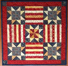 Rogue Quilter Blog - patriotic table quilt