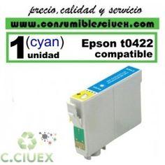 CARTUCHO CYAN COMPATIBLE EPSON T0422