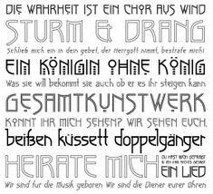 Fonts based on Charles Rennie Mackintosh's Glasgow Style