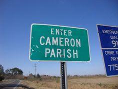 cameron la | Enter Cameron Parish Sign (Cameron Parish, Louisiana)
