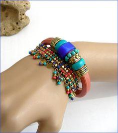 blue/peach Leather woman bracelet/anklet bracelet cuir Anklet Bracelet, Bracelet Cuir, Bracelets, Bangles, Blue Peach, Woman, Leather, Etsy, Jewelry