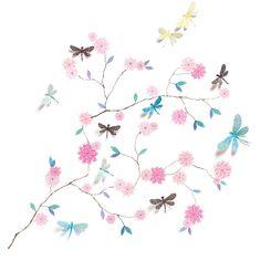 Djeco Αυτοκόλλητο τοίχου τρισδιάστατο 'δέντρο με λιβελούλες' | TOYS.GR