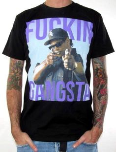 Click for Full Size Image of Eazy E, T-Shirt, Gangsta
