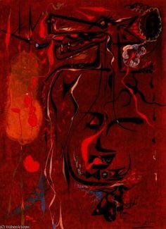 """""""Le loup avec des couleurs d automne"""" de André Aimé René Masson (1896-1987, Belgium)"""