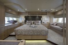 #Beautiful #soft #pink #taupe #luxury #yacht #Cushions #bedding #blinds #Oceanair