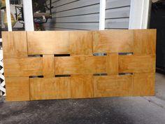 DIY Woven Wood Wall Mounted Headboard just $25 to make!