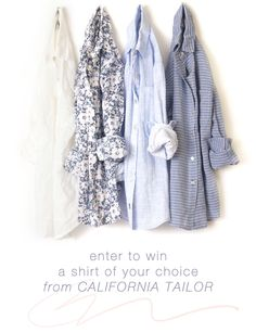 enter to win a shirt of your choosing from California Tailor // jojotastic.com #giveaway