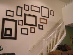 gallery walls using empty frames