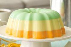Creamy Triple-Citrus Gelatin Dessert recipe