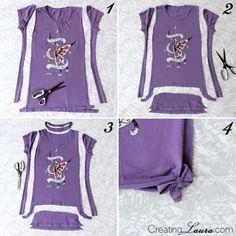 Blusa customizada para o carnaval http://vilamulher.com.br/moda/estilo-e-tendencias/blusa-customizada-para-o-carnaval-14-1-32-2845.html #diy #cuttshirt