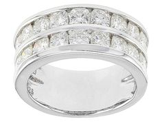 Moissanite Fire(Tm) 2.86ctw Diamond Equivalent Weight Cushion Cut Plat