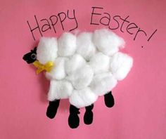 "This handprint lamb could be an Easter craft or an ""In like a lion, out like a lamb"" March craft."