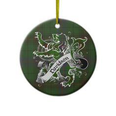Davidson Tartan Lion Christmas Ornament