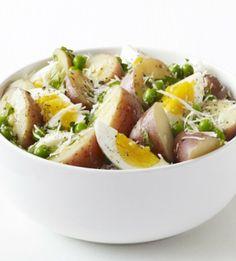 Ανοιξιάτικη πατατοσαλάτα με αυγό και παρμεζάνα