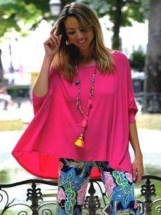 top oversize maille fine & fluide - CpourL Blouse, Tunic Tops, Women, Fashion, Shirt Blouses, Moda, Women's, Fashion Styles, Blouses
