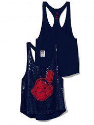Cleveland Indians Bling Baseball Hat - PINK - Victoria's Secret
