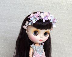 Blythe flower crown, dolls headband, foam floral crown, Eva flower wreath, doll hair accessories, dolls headpiece, wedding accessories